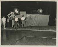 Archive of 48 original photographs of car accident scenes, 1961-1968 by [Automobile accidents] - 1968 - from Royal Books, Inc. (SKU: 149422)