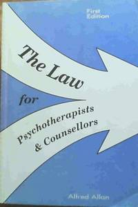image of The Law for Psychotherapists and Counsellors