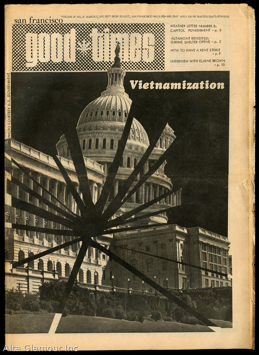 SAN FRANCISCO GOOD TIMES by Good Times Collective - 1971 - from  Alta-Glamour Inc  and Biblio com