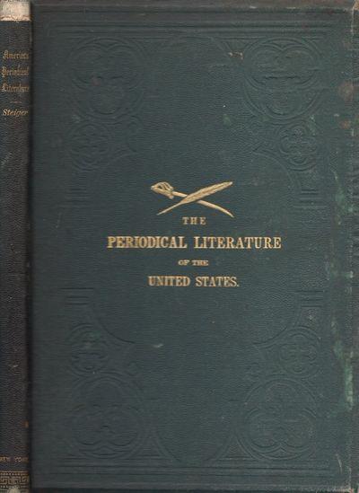New York: Ernst Steiger, 1873. First Edition. Hardcover. Fair. Octavo. Green cloth hardcover ruled i...