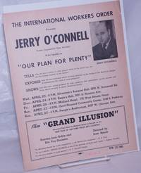 image of The International Workers Order presents Jerry O'Connell former congressman from Montana, who speaks on