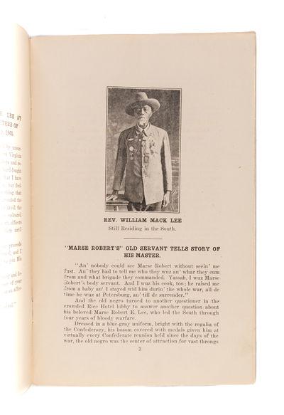 ROBERT E. LEE'S BODY SERVANT, OR WAS...