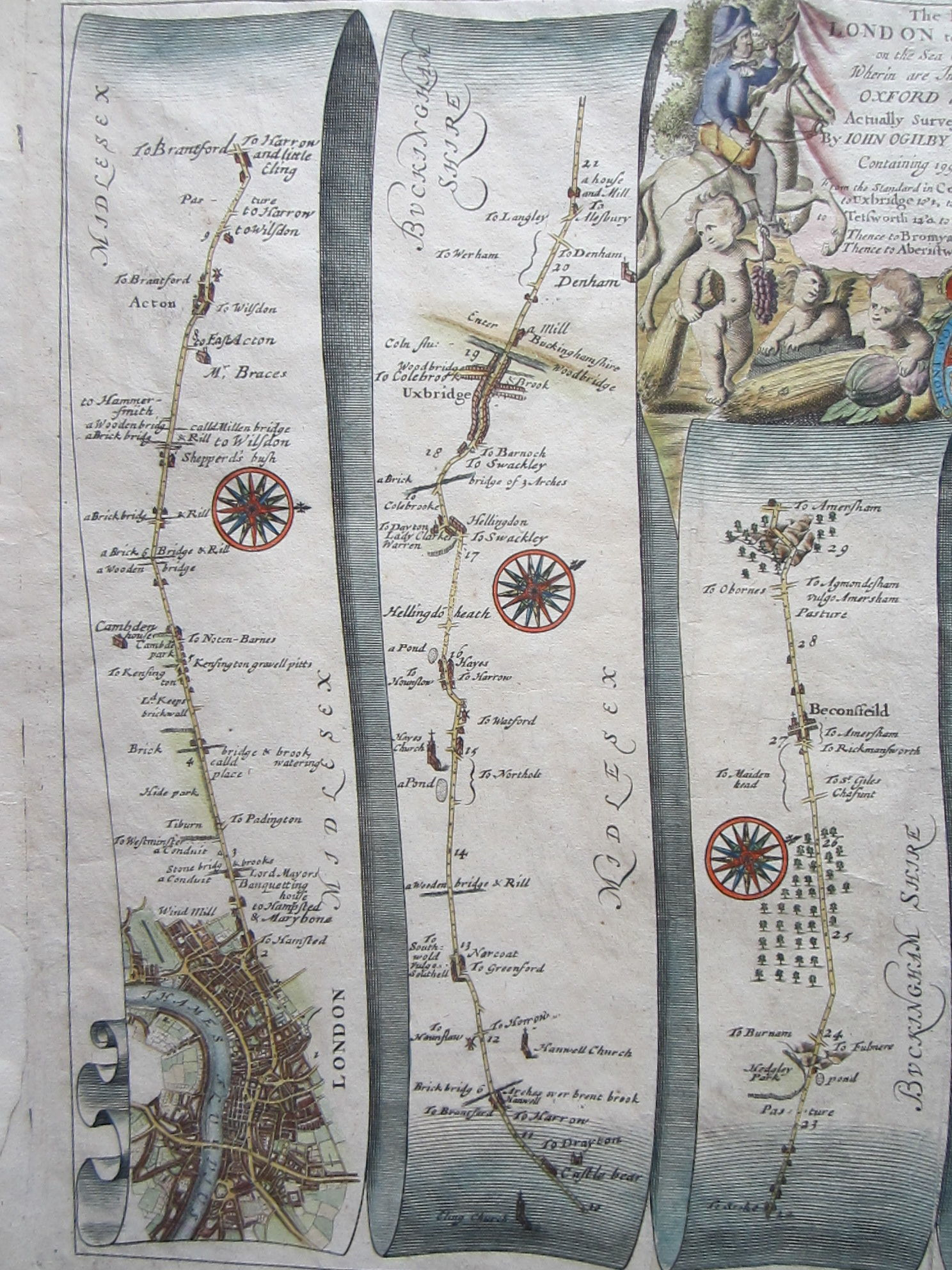 The Road from London to Aberystwyth on the Sea Coast com. Cardigan……Oxford and Worcester… (photo 3)