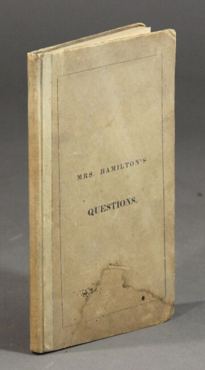 Salem: Foote & Browne, Court Street, 1829. 12mo, pp. vii, , 67, ; original cloth-backed printed pape...