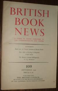 image of British Book News 109 September 1949
