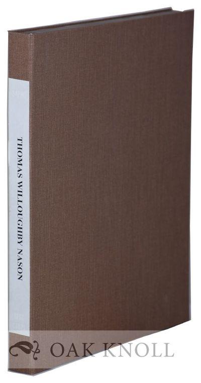 N.P.: n.p., 1993. ephemera in cloth clamshell box, paper spine label. Nason, Thomas W.. various size...