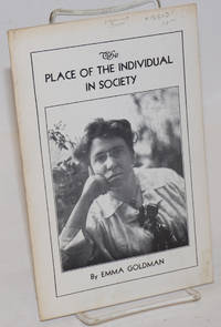 The place of the individual in society by  Emma Goldman - 1970 - from Bolerium Books Inc., ABAA/ILAB (SKU: 188081)