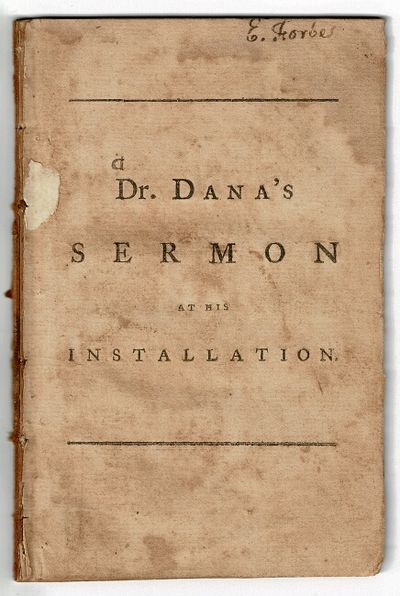 New-Haven: printed by Thomas and Samuel Green, 1789. First edition, small 8vo, pp. 43, ; removed fro...