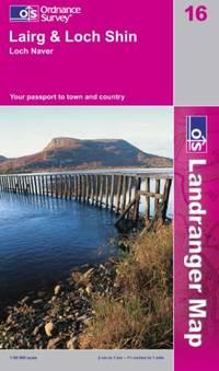 image of Lairg and Loch Shin, Loch Naver (Landranger Maps)