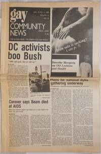 image of GCN: Gay Community News; the weekly for lesbians and gay males; vol. 16, #28, January 29 - February 4, 1989; DC Activists Boo Bush