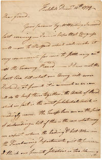 [AUTOGRAPH LETTER, SIGNED, FROM STEAM BOAT PIONEER JOHN FITCH TO HIS FRIEND, ROYAL FLINT, ON THE SITUATION OF THE CONTINENTAL ARMY IN NEW YORK]