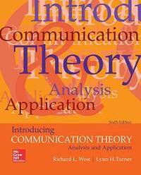 Introducing Communication Theory: Analysis and Application by Richard L West - Paperback - 2017-03-03 - from Books Express (SKU: 1259870324n)