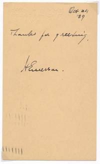 Signature and Inscription