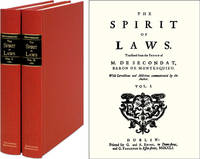 The Spirit of Laws. Translated from the French. With Corrections..