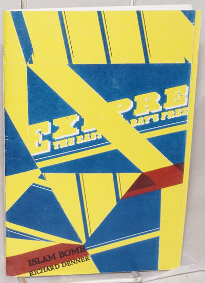 Sebastopol: Self-published by the author as dPress, 1998. Pamphlet. 5.5x8.25 inches,cut-up poetry, p...