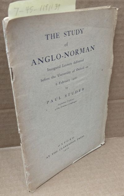 London, et al.: Oxford University Press, 1920. Octavo; fair/wraps; gray covers age-toned, bending at...