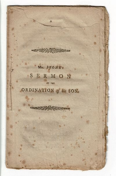 Worcester: printed at the press of Isaiah Thomas, Jun, 1801. First edition, 8vo, pp. , 6-20, ; uncut...
