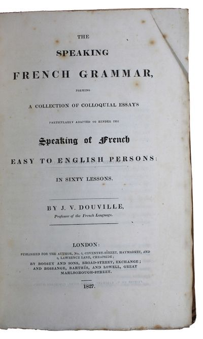 The speaking french grammar, forming...