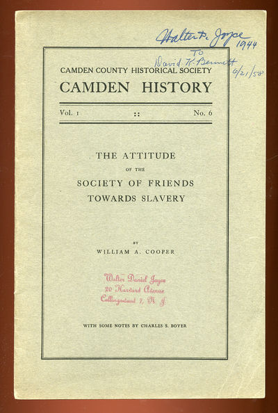 (Camden): (Camden Historical Society), 1929. Softcover. Very Good. First edition. Slightly discolore...