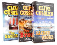 Three Clive Cussler Paperbacks: The Storm; The Navigator; and Sacred Storm