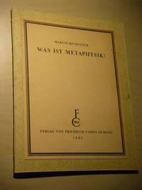 image of Was ist Metaphysik?
