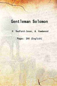 Gentleman Solomon 1929 [Hardcover]