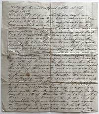 [Autograph Letter, Signed, by William T. Dorrance, Advising a Connecticut Relative on the Progress of Negotiations for an End to the Mexican-American War]