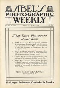 ABEL'S PHOTOGRAPHIC WEEKLY:; A JOURNAL FOR THE PROFESSIONAL PHOTOGRAPHER