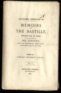 MEMOIRS OF THE BASTILLE [COMPLETE IN 3 VOLUMES] by Mr Linguet; edited by Edmund Goldsmid - Paperback - 1884 - from poor mans books and Biblio.com