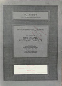 Catalogue of Fine Islamic Rugs and Carpets:  Day of Sale: Wednesday, 29th  March, 1978