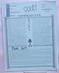 image of Seattle Gay Liberation Front Newsletter: vol. 1, #7, February 23, 1971: Come Out!