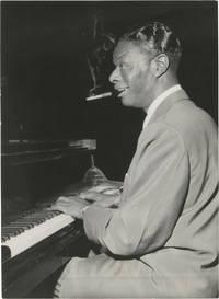 image of Original photograph of Nat King Cole at the piano, 1956