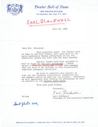 TYPED LETTER SIGNED by Hollywood gossip maven EARL BLACKWELL.