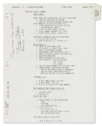 "Apollo 11 ""Mission Rules Summary"" Flown to the Moon by Buzz Aldrin"