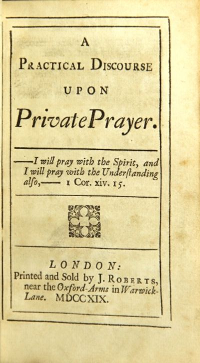 London: printed and sold by J. Roberts, 1719. First edition, small 8vo, pp. , vi, viii, 128; contemp...