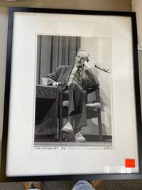 PHOTO OF WILLIAM S. BURROUGHS TAKEN BY JERRY ARONSON 1982 [Signed by Burroughs and Aronson]
