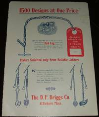 image of Original 1893 Color Illustrated Advertisement for D. F. Briggs Co. Watch  Chains