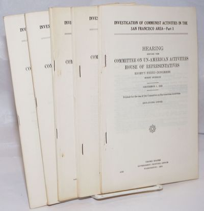Washington DC: GPO, 1954. Five staplebound booklets, complete; pages 3055-3499. Very good.