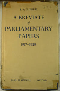 A Breviate of  Parliamentary Papers 1917-1939