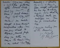 """image of Autograph Letter Signed, to """"Dear Mr. Earl Hodgson"""""""