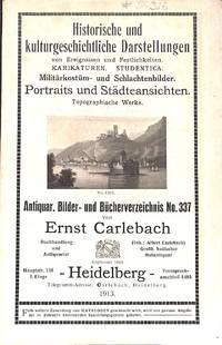 Catalogue 337/1913 : Historische und Kulturgeschichtliche  Darstellungen,Portraits unds Stadteansichten.