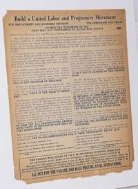 image of Build a united labor and progressive movement.  For employment and economic sercurity, for democracy and peace.  1939 May Day Statement of the Joint May Day Conference of Silver Bow County