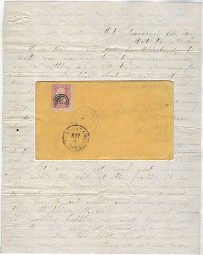 This letter to Belfast, Ohio, is datelined