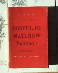 image of The Gospel of Matthew Volume 1