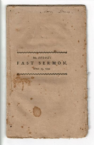 Boston: Printed by Manning & Loring, 1799. First edition, 8vo, pp. , 6-29, ; uncut; self-wrappers, s...