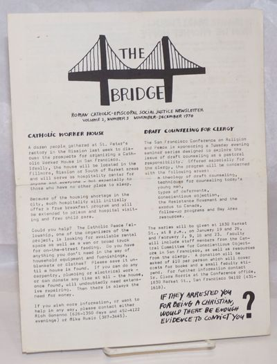 San Francisco: the newsletter, 1970. Single issue of the 8.5x11 inch newsletter, six pages, folded w...