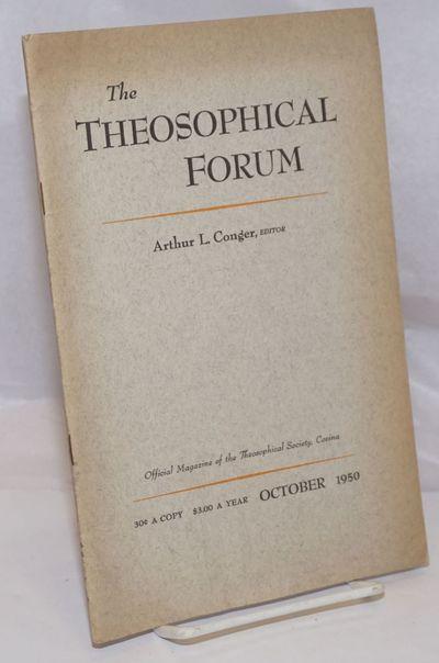Covina, CA: Theosophical University Press, 1950. pp578-640, stapled wraps, 6 x 9.25 inches, slightly...