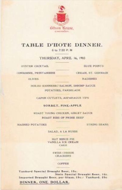 (Cincinnati), 1903. 1st Printing. Single sheet, printed on recto only, black lettering, red ink embo...
