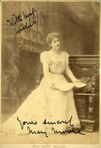 image of Fine cabinet photo by Alfred Ellis signed and inscribed (Mary, 1862-1931, Actress & Theatre Manageress)
