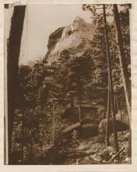 Two Photographs, Gelatin Silver Prints, of Mt. Rushmore presidential monument in progress